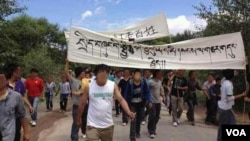 Protest in Rebkong