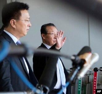 Trưởng đoàn thương thuyết về hạt nhân của Bắc Triều Tiên Kim Kye Gwan tới Bắc Kinh, ngày 18/6/2013.