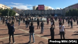 Montenegro, Podgorica, protest of caterers due to antipandemic measures