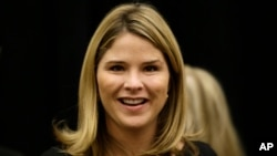 FILE - Jenna Bush Hager, is seen in Omaha, Neb., before an appearance as feature speaker at the Girls Inc. fundraiser luncheon.