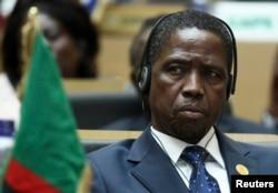 ປະທານາທິບໍດີ ຂອງ Zambia ທ່ານ Edgar Lungu ເຂົ້າຮ່ວມພິທີເປີດ ກອງປະຊຸມສາມັນ ຄັ້ງທີ 24 ຂອງສະພາແຫ່ງຊາດ ລະດັບ ຜູ້ນຳປະເທດ ແລະ ລັດຖະບານ ຂອງສະຫະພາບ ອາຟຣິກາ ຢູ່ທີ່ສຳນັກງານໃຫຍ່ຂອງອົງການ ໃນປະເທດ Ethiopia.