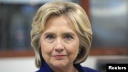 U.S. Democratic presidential candidate Hillary Clinton.