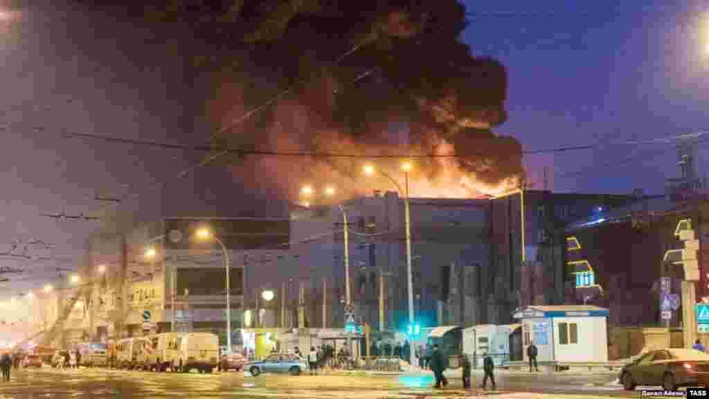 در آتش سوزی یک مرکز خرید در یک شهر سیبری روسیه، ۶۴ نفر کشته شدند.