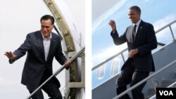 Kedua calon presiden AS, Presiden Barack Obama (kanan) dan Mitt Romney, akan berhadapan dalam debat pertama capres AS, Rabu malam.