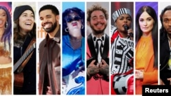FILE - Grammy Award nominations in Album of the Year category includes artists in this combination photo L-R: Cardi B, Brandi Carlile, Drake, H.E.R., Post Malone, Janelle Monae, Kacey Musgraves and Kendrick Lamar. (REUTERS)
