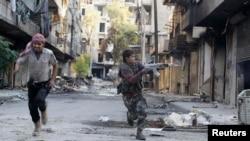 تصویری از درگیریها در حلب.