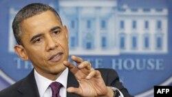 Predsednik Barak Obama govori na konferenciji za novinare u Beloj kući