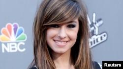 美國流行音樂歌手克里斯蒂娜•格萊米(2014年4月15日)