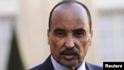 Le president mauritanien Mohamed Ould Abdel Aziz, le 20 novembre 2012 à Paris, France.