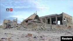 Разрушенное здание больницы в Набд-эль-Хаяте, пострадавшей от бомбардировок. Идлиб, Сирия, 9 мая 2019 года