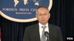 负责APEC事务的美国高级官员王晓岷(美国之音 拍摄)
