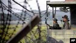 南北韓交界處。