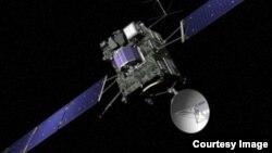 Gambar ilustrasi pesawat antariksa Rosetta (© ESA/J. Huart)