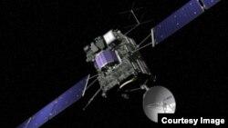 Rosetta, qui vient de poser le module Philae sur la comète (Photo ASE)