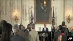 Presidente Obama a falar sobre a proposta mesquita