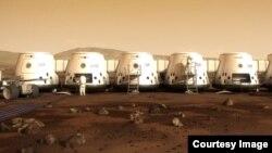 火星一号网站显示想象中的火星居住点