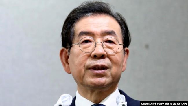 Thị trưởng Seoul, Park Won-soon, tại một cuộc họp báo ngày 8/7/2020.