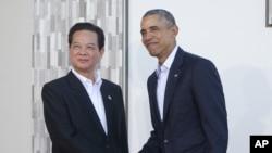 نخست وزیر ویتنامدر کالیفرنیا با باراک اوباما دیدار کرد