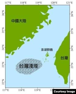 台湾滩海域位置图(中研院生物多样性研究中心研究员郑明修提供)