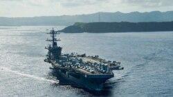 ေတာင္တ႐ုတ္ပင္လယ္ထဲ USS Theodore Roosevelt စစ္သေဘၤာအုပ္စု ဝင္ေရာက္