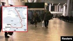 რუსი დაქირავებული მებრძოლები როსტოვის პლატოვის აეროპორტში და მათი ფრენის მარშრუტები სირიამდე