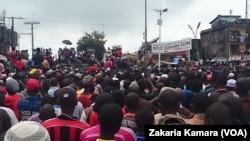 Un rassemblement des opposants au régime en place à Conakry, 16 août 2016. VOA/Zakaria Camara