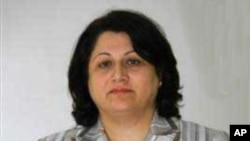 Alla Talabani, a member of the Iraqi Parliament, 25 April 2010