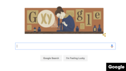 Google's Doodle of American geneticist and biologist Nettie Stevens, in honor of her 155th birthday