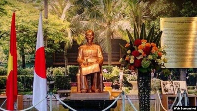 Tượng ông Hồ Chí Minh tại thành phố Mimasaka, Nhật. (Ảnh: Báo Pháp Luật VN)