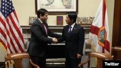 美国联邦参参议员鲁比奥2020年2月3日在国会山会见台湾候任副总统赖清德(鲁比奥推特)