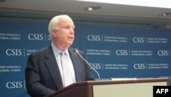 Thượng nghị sĩ McCain phát biểu tại Trung tâm Nghiên cứu Chiến lược Quốc tế ở Washington, 20/6/2011