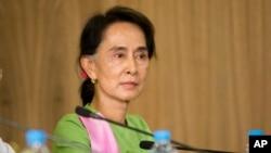 Lãnh tụ đối lập Myanmar Aung San Suu Kyi.