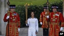 런던에 입성한 올림픽 성화