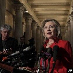 La secrétaire d'Etat Hillary Clinton s'exprimant au sujet de la situation en Iran
