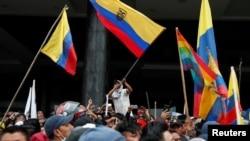 Abari mu myiyerekano muri Equateur