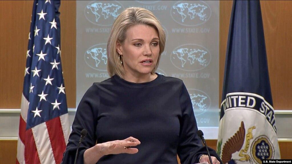 Người phát ngôn Bộ Ngoại giao Mỹ Heather Nauert hôm 6/3 công bố thêm biện pháp trừng phạt Triều Tiên