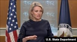 Juru Bicara Departemen Luar Negeri Amerika Serikat, Heather Nauert (Foto: dok).