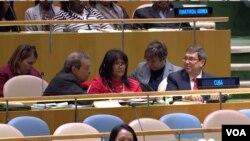 """Cuba presentó el miércoles 31 de octubre de 2018 por 26 años consecutivos su proyecto de resolución ante la ONU """"Necesidad de poner fin al bloqueo económico, comercial y financiero impuesto por los Estados Unidos contra Cuba""""."""