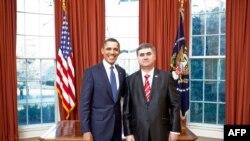 Ambasadori i ri i Shqipërisë në SHBA Gilbert Galanxhi, i paraqiti letrat kredenciale presidentit amerikan, Barak Obama