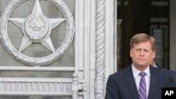 Майкл Макфол покидает Министерство иностранных дел. Москва, 15 мая 2013г.