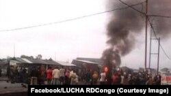 Manifestations pour réclamer les élections avant fin 2017 à Goma, RDC, 30 décembre 2017. (Facebook/LUCHA RDCongo)