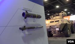2021年美国陆军协会年会暨武器展展出的波音公司与挪威Nammo公司合作推出的155毫米冲压发动机炮弹(Ramjet 155)模型