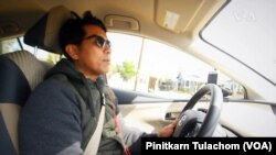 Jom Petchpradap, a well-known former TV news anchor, re-invents himself as Uber driver after being a Thai Political refugee in the U.S.