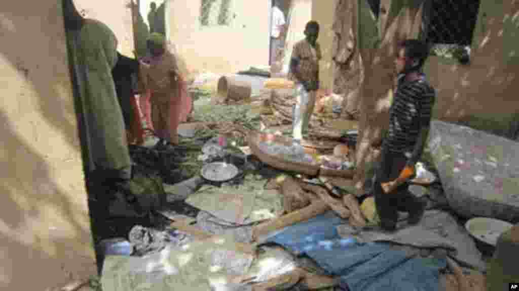 Hotunan gidan da ake kyautata zaton Kungiyar Boko Haram tana amfani da shi wajen harhada boma bomai.