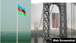 Azərbaycan və ABŞ bayraqları