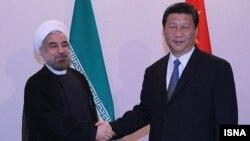 عکسی از آخرین ملاقات روسای جمهوری چین و ایران
