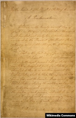 The Emancipation Proclamation, issued by President Lincoln, freed all slaves in the Confederacy.