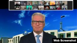 Dân biểu Úc Chris Hayes phát biểu trong video gửi đến sự kiện Ngày Nhân quyền Việt Nam lần thứ 27, tổ chức trực tuyến tối ngày 11/5/2021.