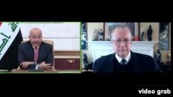 Dr. Barham Salih Serokomarê Îraqê Û John Allen Serokê Giştî Yê Brookings