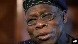 Rais wa zamani wa Nigerian Olusegun Obasanjo.
